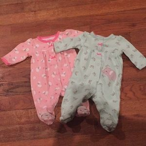 Pair of Newborn Girls Child of Mine outfits